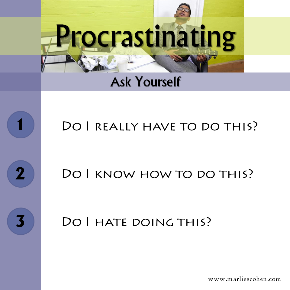 Procrastinating – Stop the Excuses