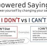Don't vs Can't – Empowered Saying NO
