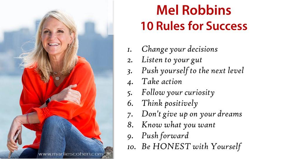 Mel Robbins 10 Secrets to Success