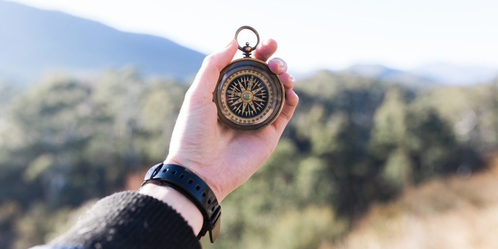 happiness is a compass