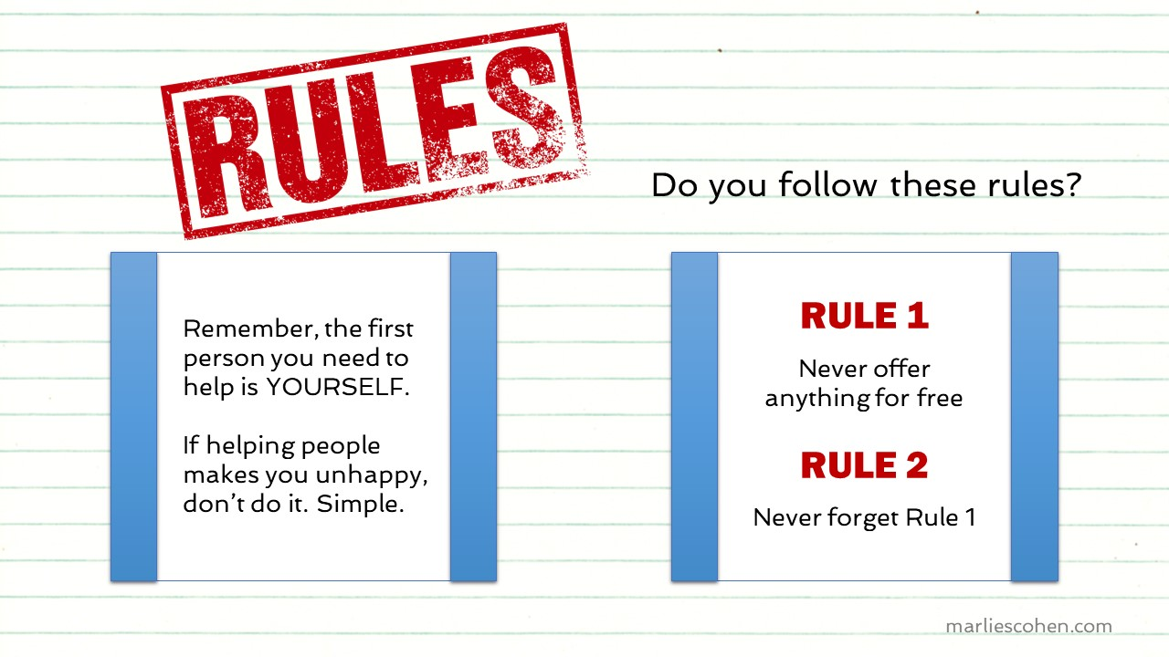 Do you follow these rules?