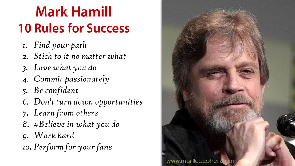 Mark Hamill Top 10 Rules for Success