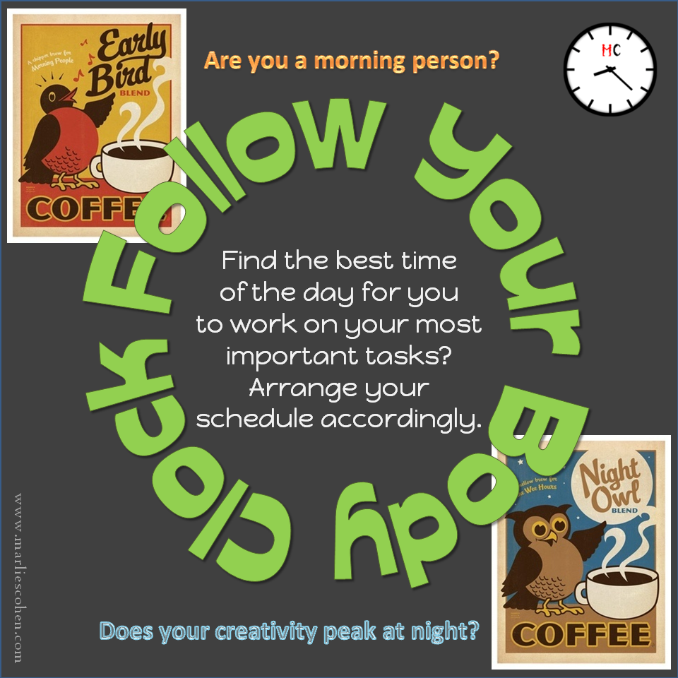 Improve Productivity – Follow Your Body Clock