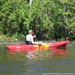 paddling on Oathill Lake