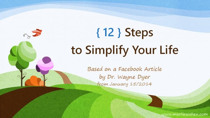 12 Steps to Simplify Your Life