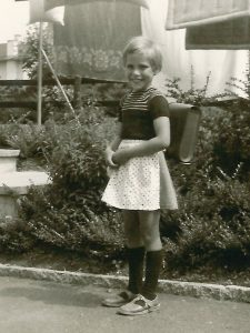 my first school day - April 1960