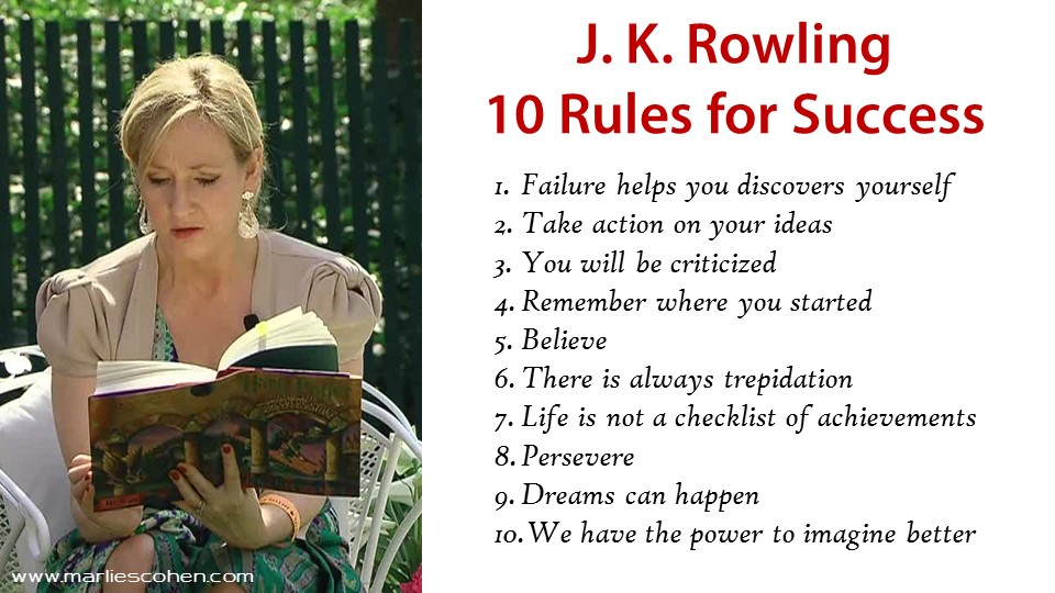 J.K. Rowling top 10 rules for success