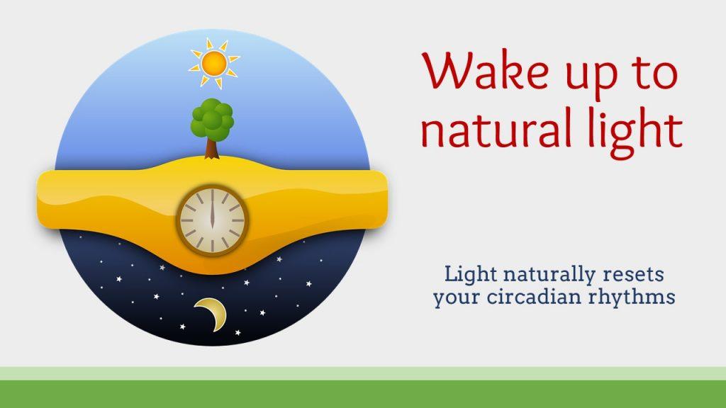 wake up to natrual light