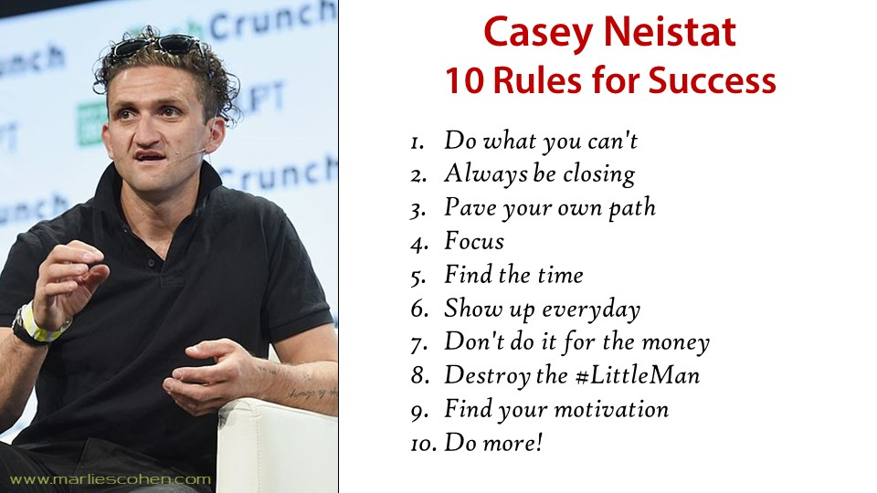 Casey Neistat - 10 rules for success
