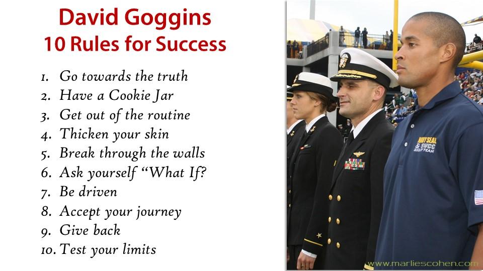 David Goggins 10 rules for success | Marlies Cohen