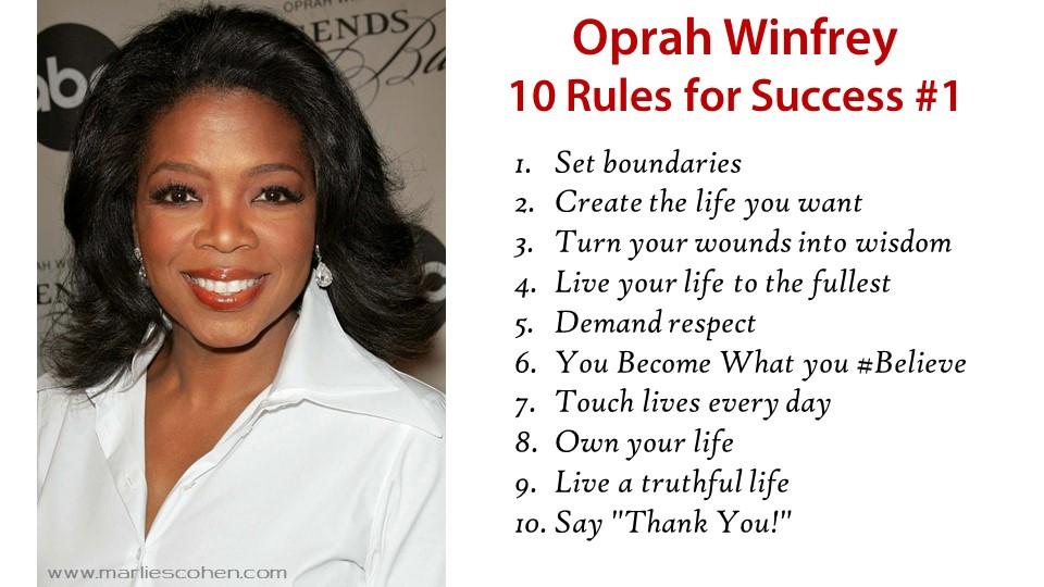 Oprah Winfrey's 10 Rules for Success v1