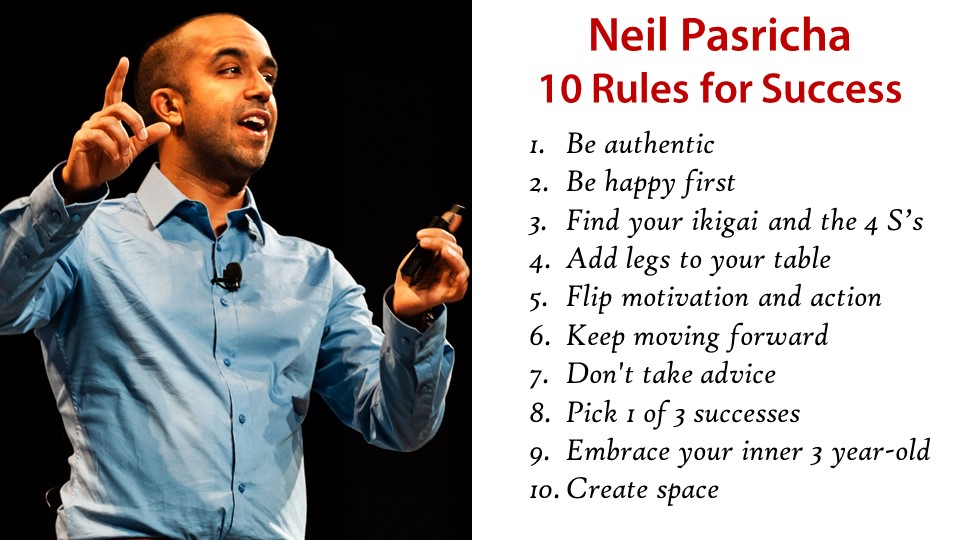Neil Pasricha - Rules for Success