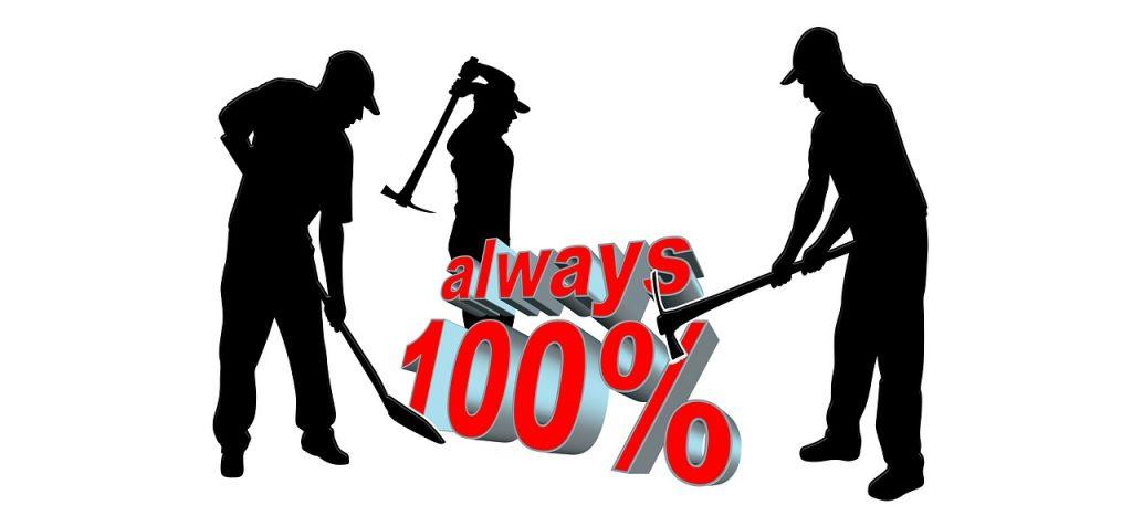 100% commitment