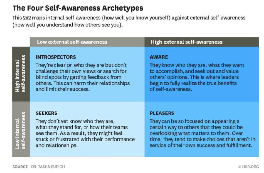 4 self-awareness archetypes. Which one are you?