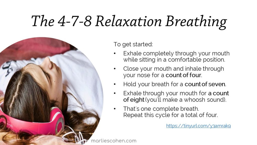 4-7-8 relaxation breathing