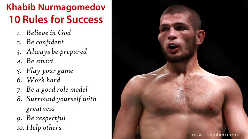 Khabib Nurmagomedov - 10 rules for success
